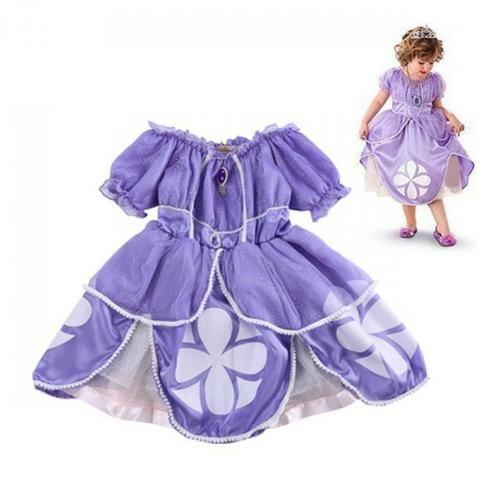 Fantasia Vestido Princesa Anna Frozen Fever Roupas E