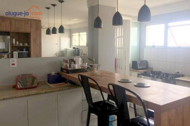 Apartamento com 3 dormitórios à venda, 120 m² por r$ 450.000 - vila adyana - são josé dos  - Foto 2