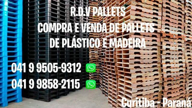 Compro e vendo pallets de madeira e plástico