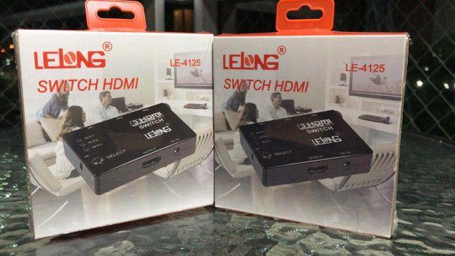 Switch HDMI 3 Entradas e 1 Saída LE-4125 - Lelong