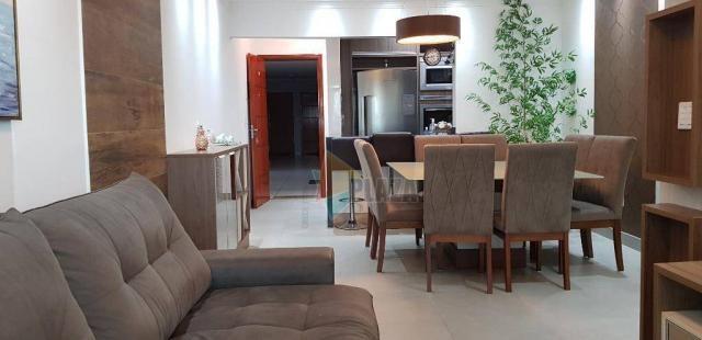 Apartamento com 2 dormitórios para alugar, 76 m² por R$ 3.000,00/mês - Tupi - Praia Grande - Foto 7