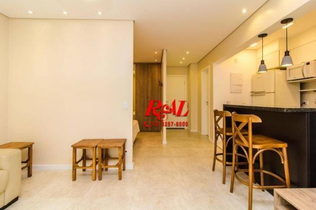 Apartamento com 1 dormitório para alugar, 53 m² por R$ 3.200,00/mês - Ponta da Praia - San - Foto 3
