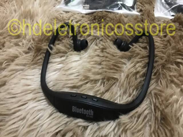 Seu Fone de ouvido esportivo bluetooth s9, suporte cartão sd tf/sem fio mãos, auriculares - Foto 3