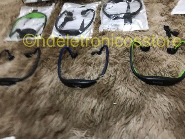 Seu Fone de ouvido esportivo bluetooth s9, suporte cartão sd tf/sem fio mãos, auriculares - Foto 5