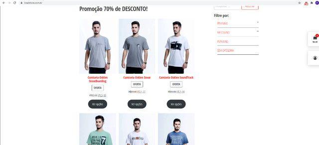 Camisetas Originais com 70% de desconto (Black November) - Foto 4