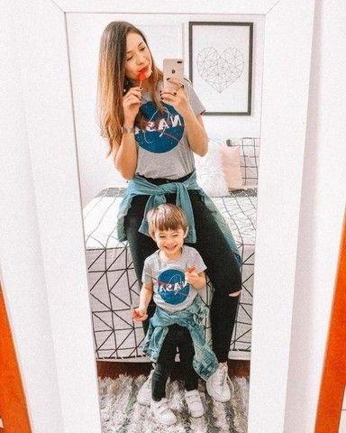 T-shirt mãe e filho(a)  - Foto 2