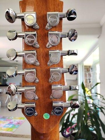 Violão de 12 cordas com capa  - Foto 5