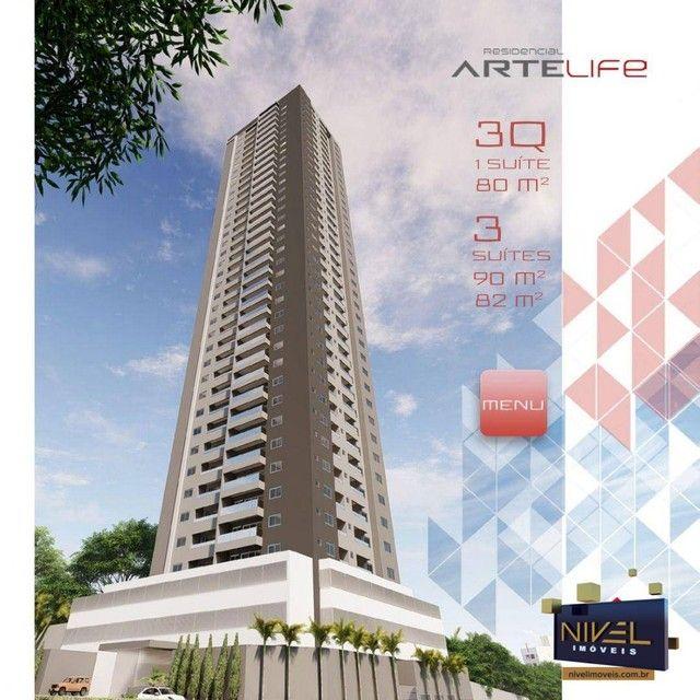 Apartamento com 3 dormitórios à venda, 90 m² por R$ 506.530 - Setor Leste Universitário -  - Foto 2