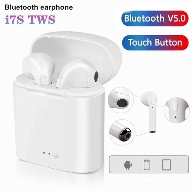 Fone de ouvido Bluetooth i7s tws funciona em todos aparelhos celulares - Foto 5
