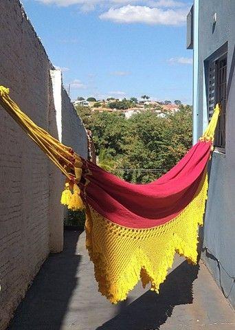 Rede de Descanso Vermelho/ Amarelo - Varanda em Macramê - Foto 4