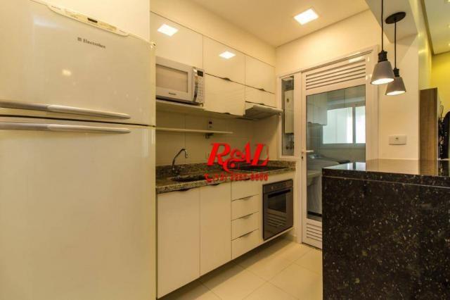 Apartamento com 1 dormitório para alugar, 53 m² por R$ 3.200,00/mês - Ponta da Praia - San - Foto 15