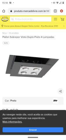 Luminária de vidro preta, parcelo no cartão - Foto 2