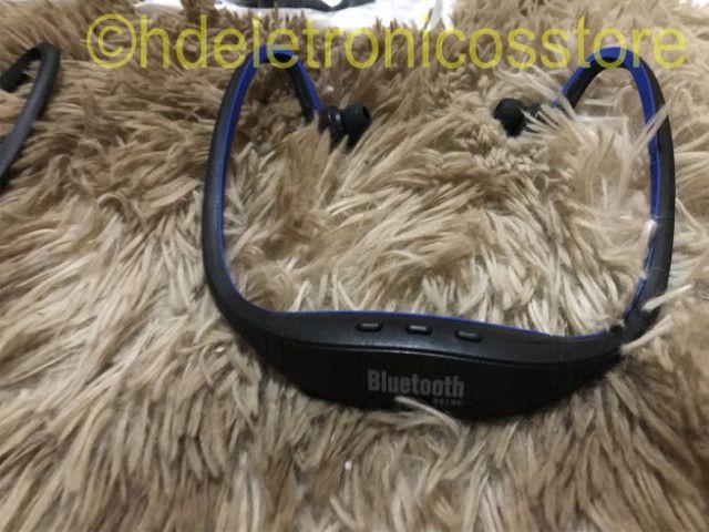 Seu Fone de ouvido esportivo bluetooth s9, suporte cartão sd tf/sem fio mãos, auriculares - Foto 2