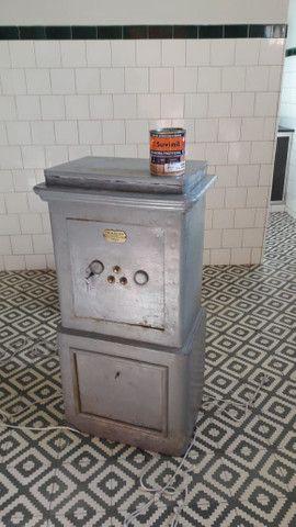 Cofre antigo de ferro (de piso e pesado). Raridade! - Foto 6
