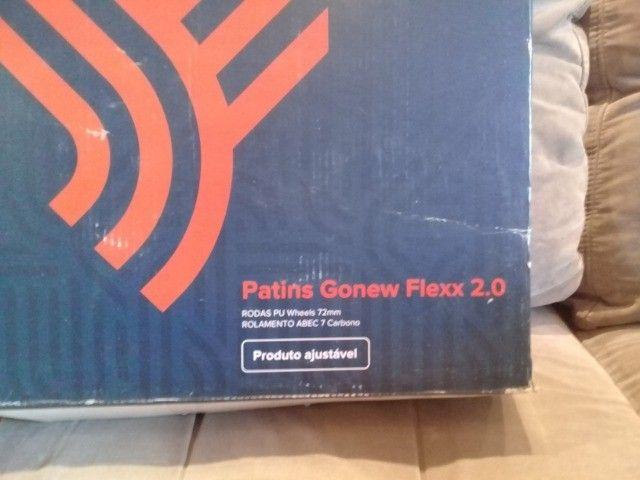 Vendo dois patins gonew Flexx 2.0 são patins profissionais. Valor 150,00 cada - Foto 6