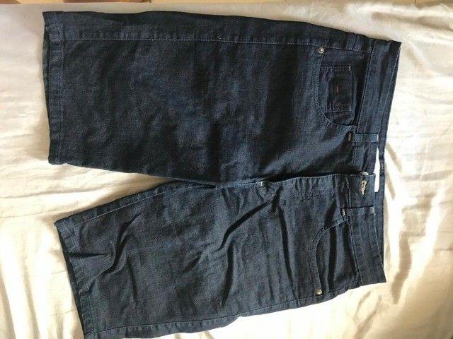 Bermuda/shorts jeans feminina azul - 40 - Denim Collection - Foto 3