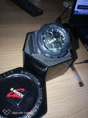 8b7e160dee2 Relógio Casio G-Shock Ga-100bbn-1 Pulseira Tecido Nylon - Foto 2