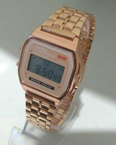 46e1039bd91 Relógio feminino muito lindo multifuncional Casio Rose