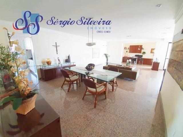 Apartamento na Aldeota com 4 suítes todas com closet, amplo e ventilado, nascente 4 vagas - Foto 4