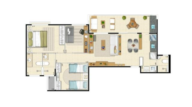 Terramaris Condominio Clube / 79m² com 3 quartos sendo 1 suite em Ponta Negra - Foto 2