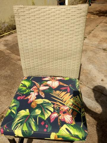6 Cadeiras de Junco Seminovas - Foto 6