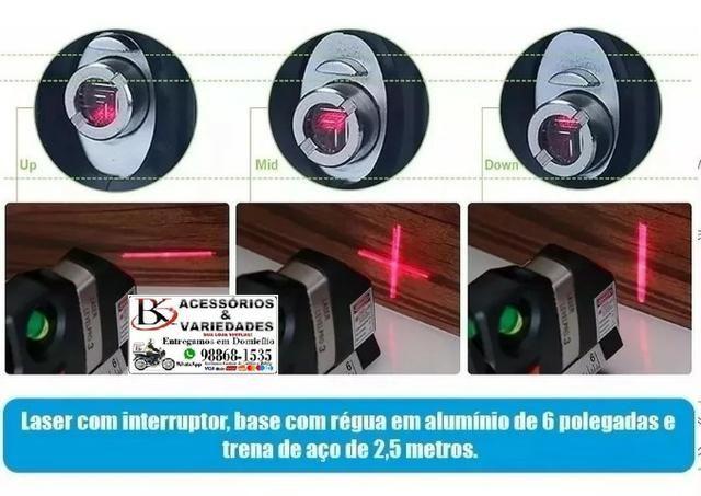 Nível Laser Profissional Trena Level Nivelador Régua-Top!!!! R$ 40 - Foto 6