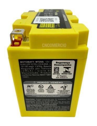 Bateria 100% Gel Motobatt Mtz6s 6ah Nxr Bros 150 2009/. 160 Cg 125/150 Fan 2009/. - Foto 3