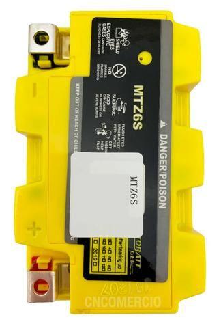 Bateria 100% Gel Motobatt Mtz6s 6ah Nxr Bros 150 2009/. 160 Cg 125/150 Fan 2009/. - Foto 2