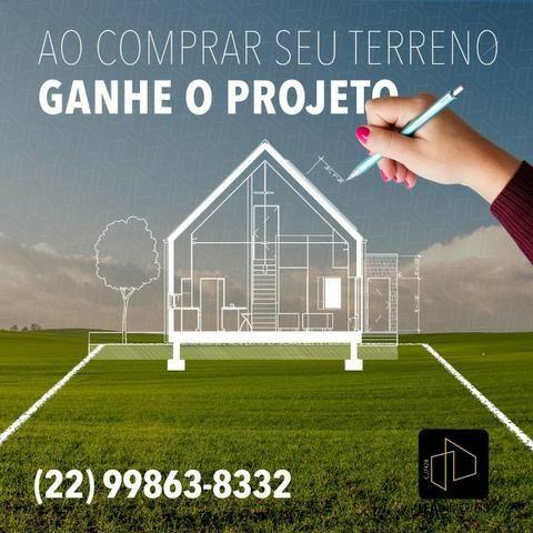 Compre o seu Terreno e ganhe Grátis um projeto de sua casa. venha conferir! 02