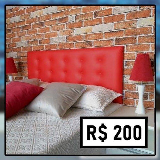 Promoção Relâmpago! Cabeceira Casal (de R$ 280 por apenas R$ 200) - Foto 2