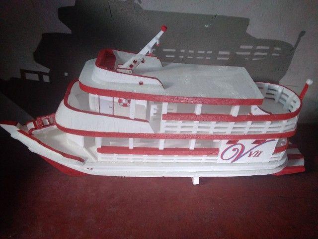Miniatura de barco regional feito de isopor com 74cm de comprimento  - Foto 4