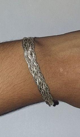 Pulseira de prata 925, 5 fios - Foto 3