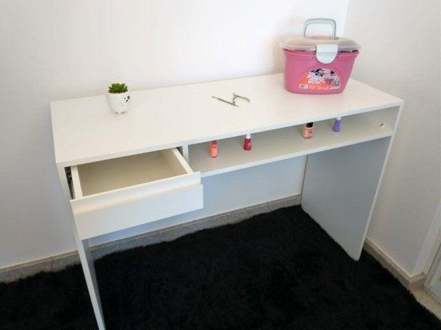 Mesa de manicure/ escrivaninha/ multiuso MDF novo - Foto 6