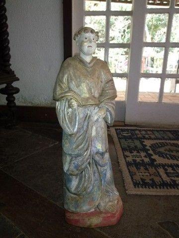 Conjunto de 3 esculturas em madeira - Foto 3