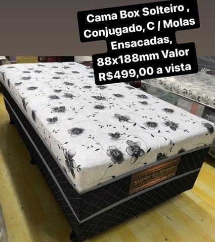 Cama Box Solteiro  Conjugado C/ Molas Pocket Ensacadas - Foto 2