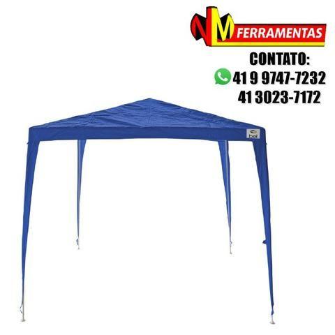 Tenda Gazebo 3x3m Desmontável E Encaixável Azul Belfix - Materiais ... bf96d80f11