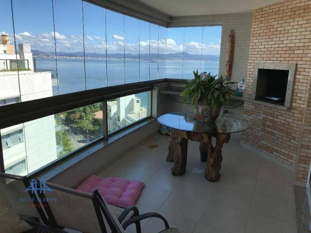 Amplo apartamento mobiliado no joão paulo com linda vista para o mar, 3 suítes, sacada e 3