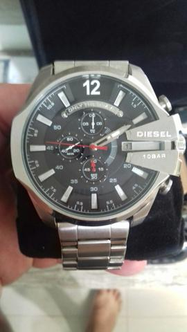 997aed4c99f Relógio Diesel Pa012 Prata Preto Dz4308