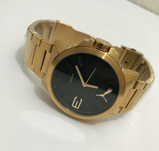24cd9717f79 Relógio Puma Dourado Original! - Bijouterias