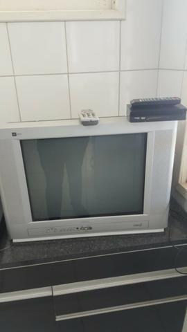 Tv + sintonizador digital + antena + controles originais