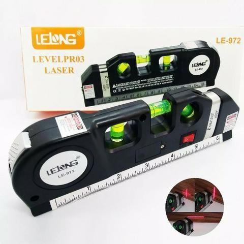Nível Laser Profissional Trena Level Nivelador Régua-Top!!!! R$ 40 - Foto 3