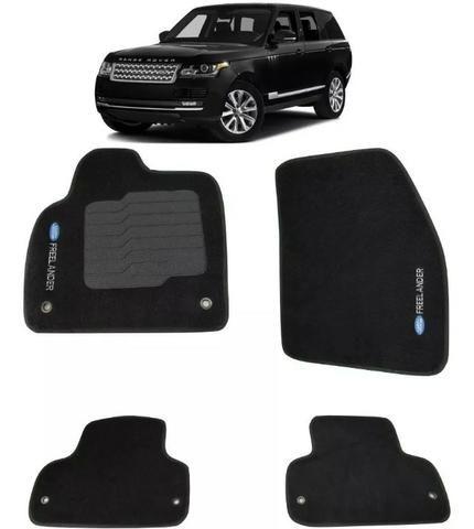 Jogo Tapete Carpete Land Rover Freelander 2 Preto 4 Peças