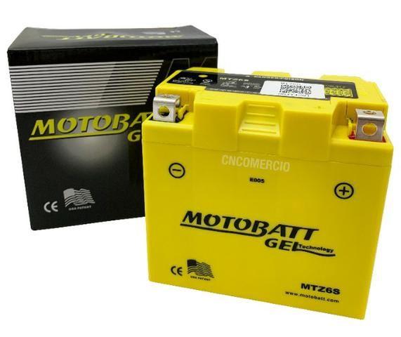 Bateria 100% Gel Motobatt Mtz6s 6ah Nxr Bros 150 2009/. 160 Cg 125/150 Fan 2009/. - Foto 4