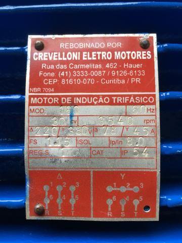 Motor elétrico weg 30cv 2 pólos trifásico 220/380v - Foto 4