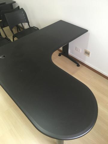 Mesas em L para escritório pretas! - Foto 2