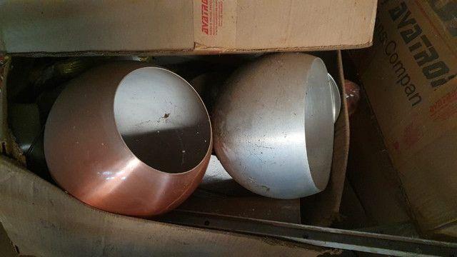 Queima de estoque! Vendem-se vários repuxos de alumínio para confecção de luminárias - Foto 4