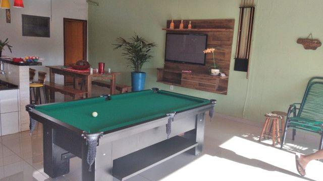 Mesa Charme de Sinuca e Bilhar Cor Preta Tecido Verde Mod. LGVA5128 - Foto 2