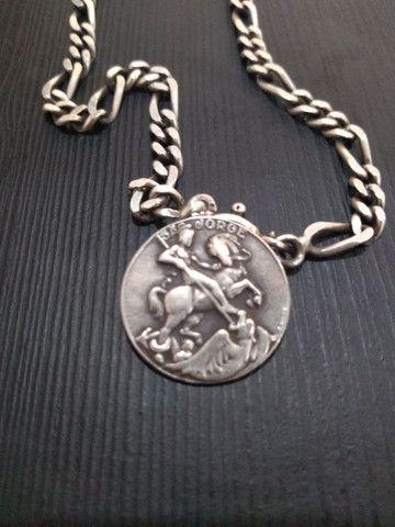 Corrente de prata c/ pingentes - Foto 2