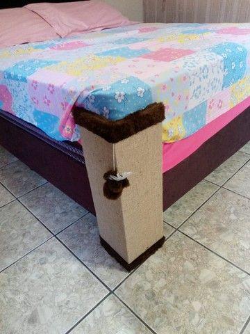 Cantoneira sofá com tela dupla, bordas chocolate - Foto 4