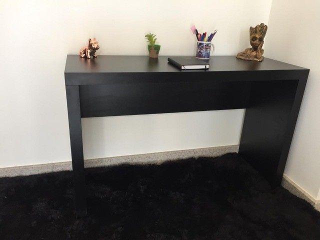 Mesa/ escrivaninha/ escritório/computador/ aparador preta MDF novo - Foto 2